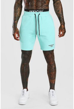 Mint Official Man Elastic Waistband Mid Length Short