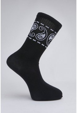 Black 2 Pack Patterned Sock