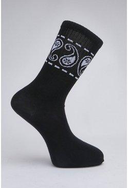 Black 2 Pack Patterned Sock