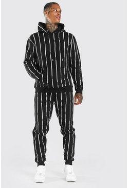 Black All Over MAN Stripe Tracksuit