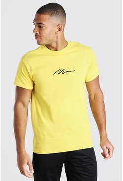 Gold MAN Signature Embroidered T-Shirt