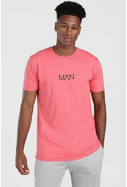 Pink Original MAN Print T-Shirt