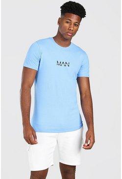 Cornflower blue Original MAN Print T-Shirt