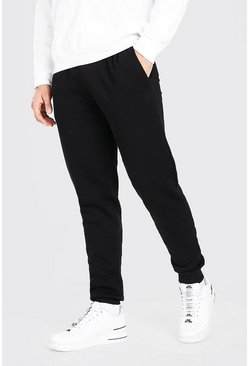 Slim Fit Jogginghose, Schwarz