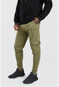 Khaki Skinny Fit Cargo Jogger