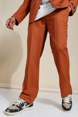 Brown Relaxed Suit Trousers