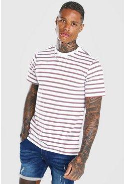 Navy Yarn Dyed Horizontal Stripe T-Shirt