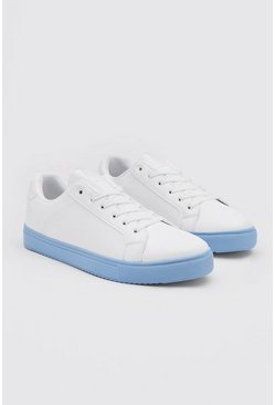 Blue Sole Cupsole Sneakers