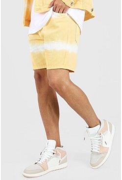 Pale orange Skinny Fit Tie Dye Jean Short