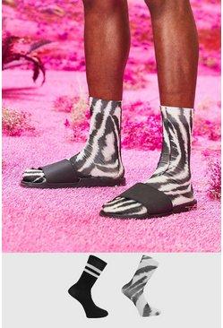 Multi 2pk Tie Dye and Plain Socks