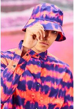Coral Tie Dye Bucket Hat