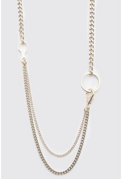 Gold Double Layer Chain Pendant