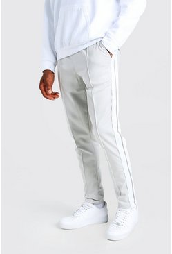 Light grey Original MAN Tricot Jogger With Side Tape