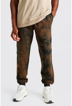 Black Official MAN Loose Fit Tie Dye Jogger
