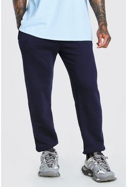 Basic Loose Fit Jogginghosen, Marineblau
