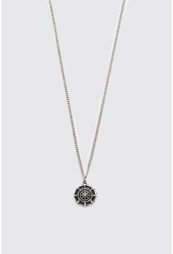 Silver Compass Pendant Necklace