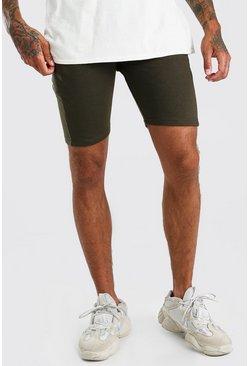 Olive Basic Mid Length Jersey Short