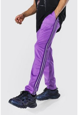 Purple Regular Official Man Tape Tricot Joggers