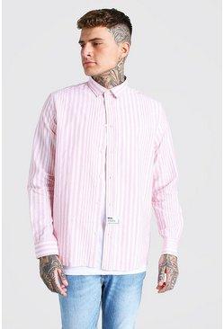 Pink Oversized Poplin Shirt