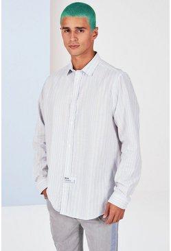 Blue Oversized Poplin Shirt