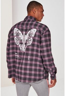 Pink Butterfly Overshirt