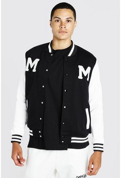 Black Man Logo Varsity Jacket