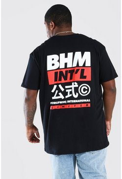 Black Big And Tall BHM International T-Shirt