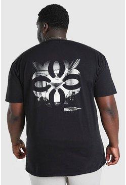 Black Big And Tall Renaissance Back Print T-Shirt