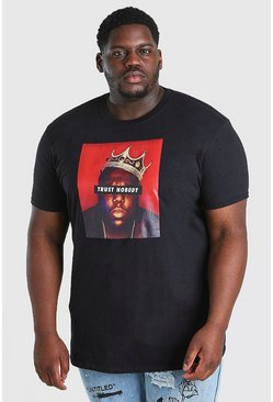 Black Big And Tall BIG Trust Nobody License T-Shirt