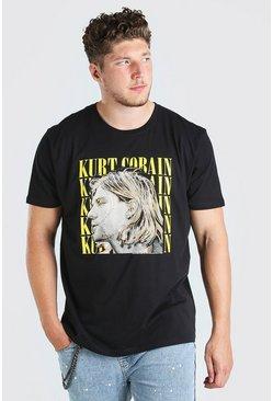 Black Big And Tall Kurt Cobain License T-Shirt