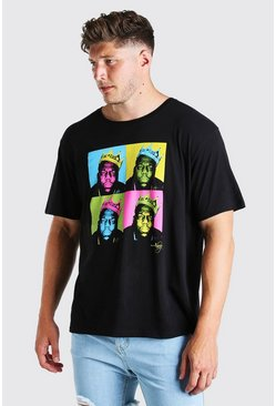 Black Plus Size Biggie Art License T-Shirt