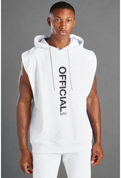 Ecru MAN Sleeveless Hooded Sweater
