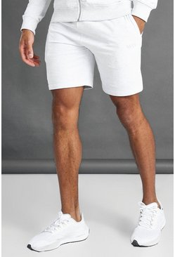 Ecru MAN Mid Length Shorts With Contrast Drawcords