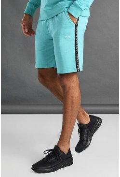 Aqua MAN Mid Length Shorts With Tape Detail