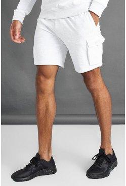 Ecru MAN Cargo Shorts