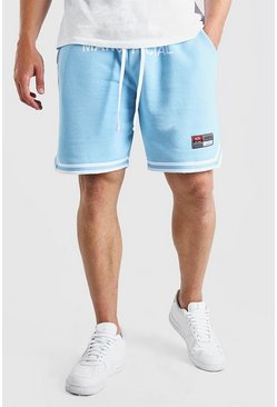 Blue Big And Tall MAN Waistband Short With Tape