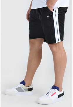 Black Big And Tall MAN Dash Tricot Short With Tape
