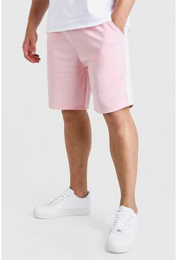 Pink Big And Tall MAN Dash Tricot Short With Tape