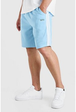 Blue Big And Tall MAN Dash Tricot Short With Tape