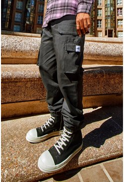 Slate Twill Belt Front Cargo Jogger With MAN Tab