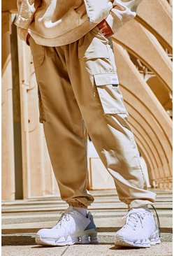 Stone Official Man Shell Cargo Pants With Bungee Cords