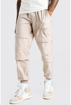 Stone Official Man Peached Shell Pocket Cargo Pants