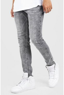 Grey Skinny Fit Jean With Abrasion