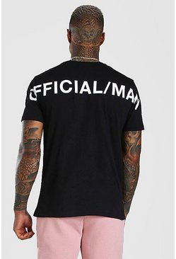 Black Official MAN Back Print T-Shirt