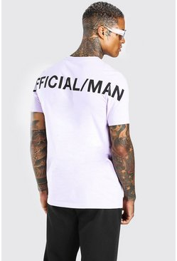 Lilac Official MAN Back Print T-Shirt