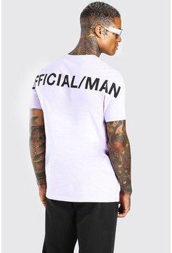 Lilac Official MAN Back Print T-Shirt