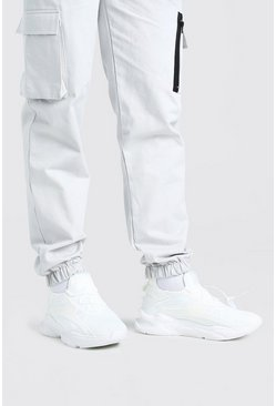 White Man Mesh Panelled Runner Sneaker