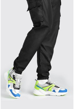 Multi Man Dash Chunky Panelled Sneakers