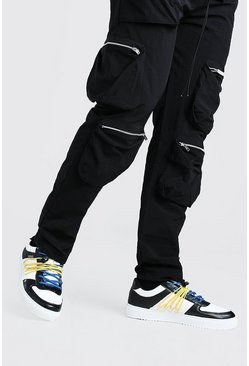 Black MAN Basketball Trainer With Bungee Detail