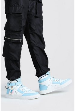 Multi Man Hi Top Sneaker With Buckles
